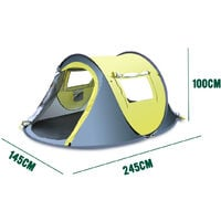 3-4 Person Outdoor Waterproof Automatic Pop Up Shelter Open Quick Hiking Camping