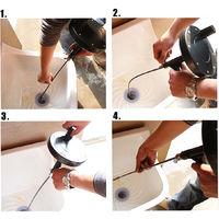 7M Drain Unblocker Flexible Rod Auger Snake Hose Cleaner Toilet Plumbing Tool