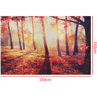 Beach Towel Forest Morning Sun Cotton Canvas Tapestry