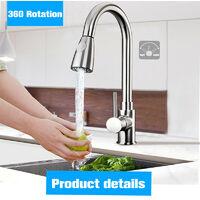 Modern Kitchen Sink Mixer Faucets Swivel Spout Basin Faucet Mono Faucet Chrome