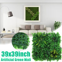 100CM Artificial Plant Wall Fence Fake Greenery Panel Decor Hedge Grass Mat