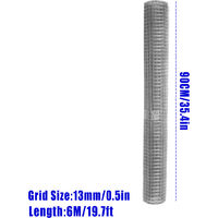 Galvanised Mesh Net 0.9*6m Ring Plier Tool Chicken Mesh Cage Wire Fencing Crimping Solder Joint Welding