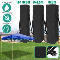 Canopy Tent Gazebo Anti-UV Waterproof Polyester Carry Storage Bag 140X34X34CM Black