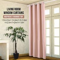 1 PC Blackout Window Curtain Solid Curtain Grommet top 150x200cm