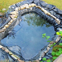 Fish Pond Liner PVC Membrane Reinforced Waterproof Landscaping Durable HDPE 2.5x2.5m