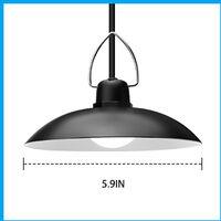 LED Solar Pendant Light Waterproof Lamp for Outdoor Garden Shed Gazebo Lights