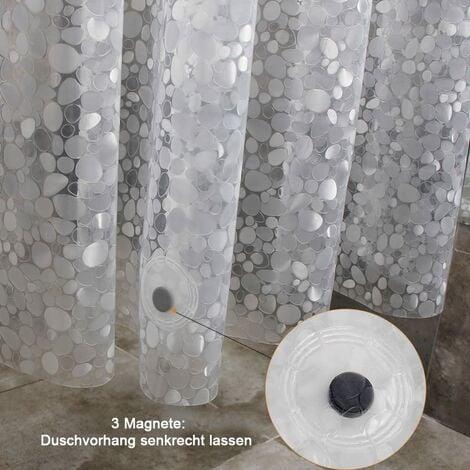 rideau de douche anti moisissure etanche a la baignoire 100 eva anneaux de rideau de douche 180 x 180 cm
