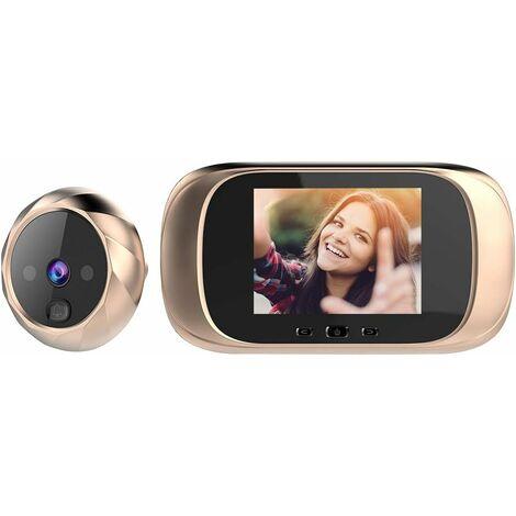 LangRay Visionneuse de Porte numérique Caméra de Porte Judas Surveillance numérique des Portes visiophone sans Fil interphone visiophone Portail interphone Sonnette Camera