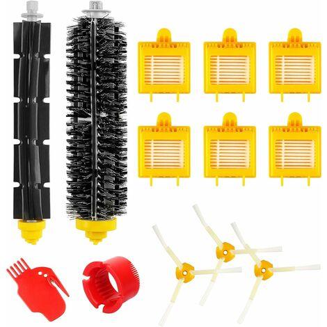 Accessoires de remplacement pour Roomba série 700 780782774772776760770 Remplacer le filtre Brosses triples latérales Rouleau à poils