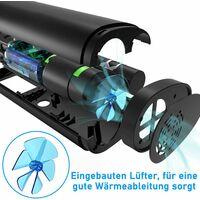 Compresseur Pompe à Air électrique pour Voiture et Vélo, Mini Compresseur Pneumatique Rechargeable 100PSI Pompe à pneu Compresseur électrique Pompe à air avec Grand Ecran LCD Lampe LED pour Moto,Football
