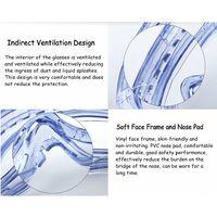 Lunettes de sécurité parfaites, Lunettes Anti-buée à Vision intégrale, également pour Les porteurs de Lunettes, Anti-Rayures et incassables, pour Chantiers de Construction, laboratoires et ateliers