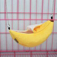 Hamster Maison Suspendue Hamac Banane Conception Petits Animaux Coton Cage Dormir Nid d'animal Lit Rat Hamster Jouets Cage Balan?oire (Color : Yellow)