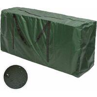 Sac de transport pour coussins de jardin Coussins de meubles de jardin Sac de rangement pour coussins d'ameublement Coussins (122x55x39cm)