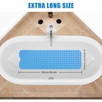 Tapis de bain, tapis de bain antidérapant pour enfants avec 200 ventouses, tapis de bain antidérapant lavable en machine, tapis de douche long pour bébé de salle de bain lavable en machine lavable à la main 100 * 40 cm