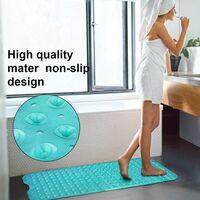 Tapis de bain, tapis de bain antidérapant avec 200 ventouses, tapis de bain antidérapant long tapis de douche pour salle de bain lavable en machine lavable à la main, pour enfant bébé 100 * 40 cm (vert)
