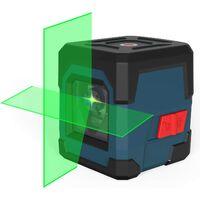 Niveau Laser Autonivelant,LV1G Niveau Laser Rotatif IP54 Anti-éclaboussures 15M Laser Croix Horizontal et Verticale avec étui de Protection et 2 Piles