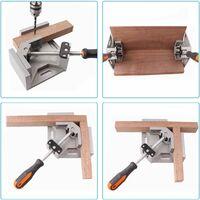 Serre-Joint à Angle Droit, 90° Corner Clamp/Etau d'Angle à une main en Aluminium avec une Capacité d'Ecartement de 70 mm pour le Travail du Bois, l'Ingénierie, le Soudage, le Charpentier