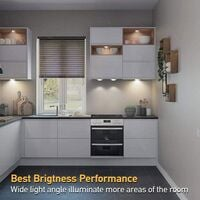 LangRay éclairage d'armoire LED avec télécommande, éclairage d'armoire 3 pièces d'éclairage d'armoire éclairage de nuit LED éclairage d'armoire éclairage d'armoire LED pour chambre à coucher, armoire, armoire, cuisine - blanc - blanc