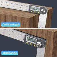 LangRay Numérique Angle Finder 0-360 ° Numérique Inclinomètre En Acier Inoxydable Rapporteur D'angle Règle avec LCD Affichage pour Travail Du Bois Construction Réparation