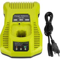 LangRay 3A 12V-18V Chargeur de Batterie de Rechange pour Ryobi ONE + 12V-18V BCL1418 260051002 P113 P117 P118 Batterie Rechargeable