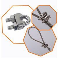 LangRay M5 Serre-câbles Etrier U Boulon Clip de Câble 304 Acier inoxydable Selle de pince de Câble Câble métallique Clips pour etendoir linge exterieur20PCS