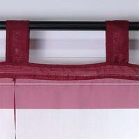 LangRay Store romain avec boucles rideaux Cuisine stores romains Rideaux transparents à boucle aveugle Voile moderne Vin rouge LxH 60x155cm 1 pièce