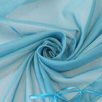 LangRay Store romain avec boucles rideaux Cuisine stores romains Rideaux transparents à boucle aveugle Voile moderne bleu LxH 60x155cm 1 pièce