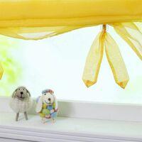 LangRay Store romain avec boucles rideaux Cuisine stores romains Rideaux transparents à boucle aveugle Voile moderne jaune LxH 60x155cm 1 pièce