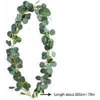 LangRay Vignes artificielles avec feuilles feuilles guirlande feuillage artificiel lierre décoration plante artificielle guirlande mariage maison balcon décoration accessoires pour décoration de noël mur de fête de mariage #1