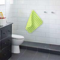 LangRay Tapis de douche antidérapant, carré, tapis de douche TPR, douche antidérapante, tapis de douche antidérapant, insert de receveur de douche antidérapant avec boule de massage pour baignoire (vert, 48 x 48 cm)