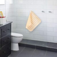 LangRay Tapis de douche antidérapant carré, tapis de douche antidérapant, tapis de douche antidérapant, insert de receveur de douche antidérapant avec boule de massage antidérapante pour baignoire (jaune abricot, 48 x 48 cm)