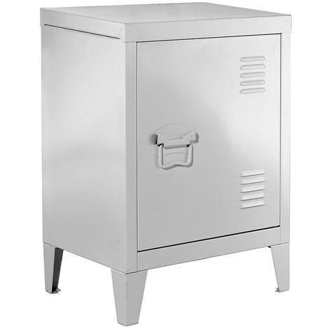 Table de chevet en métal blanche - Casâme