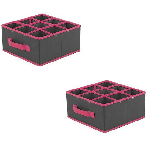 Séparateur de tiroirs 9 cases - Lot de 2 - Casâme