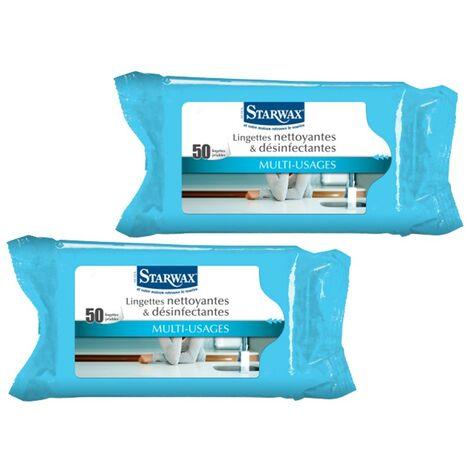 Lingettes nettoyantes désinfectantes multi-usages X50 - Lot de 2 - CaliCosy