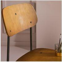 Lot de 2 Chaises plaquées bois et métal industriel - Signature