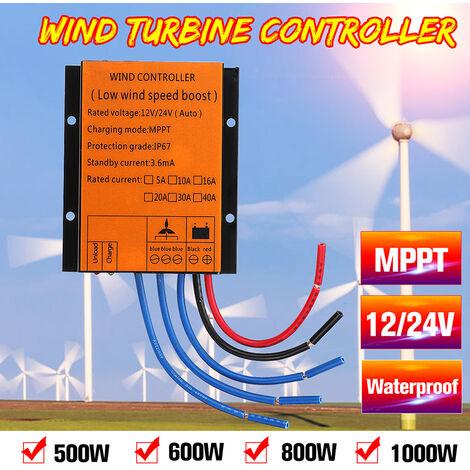 Controlador de turbina eólica MPPT Carga regular Protección contra sobretensiones Freno automático y manual IP67 Impermeable (MPPT300)