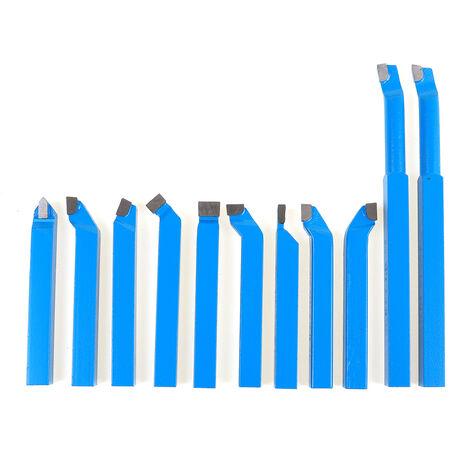 Juego de herramientas de torno de carburo de metal de corte de torneado aburrido CNC de 11 piezas