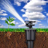 Riego de agua Niebla Aspersor Rotación automática Emergente Cabezal rociador Jardín al aire libre Césped 1/2/3/4 pulgadas Boquilla integrada LAVENTE