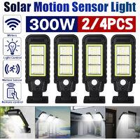 IP65 impermeable LED Panel solar Luz de calle Radar Inducción Sensor de movimiento Lámpara de pared solar + Control remoto (60LED)