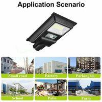 6500K 150LED Luces de Calle Solares PIR Sensor de Movimiento, 300W Lámpara Botón de Visualización Control + Control Remoto + Inducción deRadar