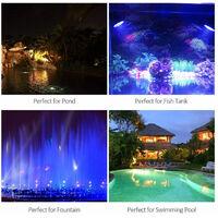 1 juego 1 luces LED RGB Luces subacuáticas para piscinas Foco Impermeable IP68 Acuario Fuente de jardín Estanque Lámpara de peces Paisaje Decoración de buceo AC100-240V (B - 1 luz)
