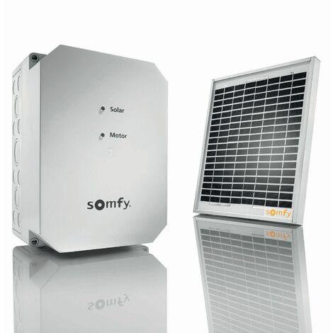 Kit d'alimentation solaire Somfy Solarset RTS pour moteurs de portail ou porte de garage - 2400961