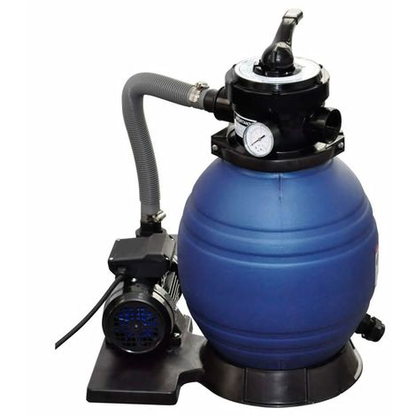 Pompe à filtre à sable 400 W 11000 l/h 298 x 458 x 621 mm (l x P x H)