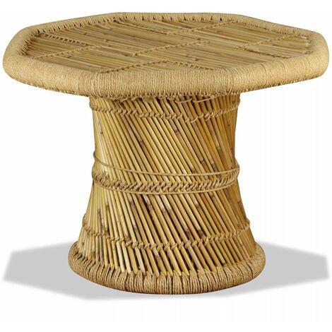 Table basse octogonale Bambou 60 x 60 x 45 cm