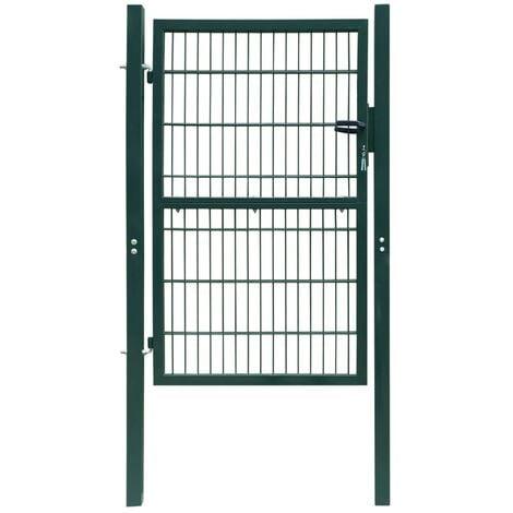 Portillon 2D (simple) Portillon de clôture de jardin Portillon en acier Vert 106 x 170 cm
