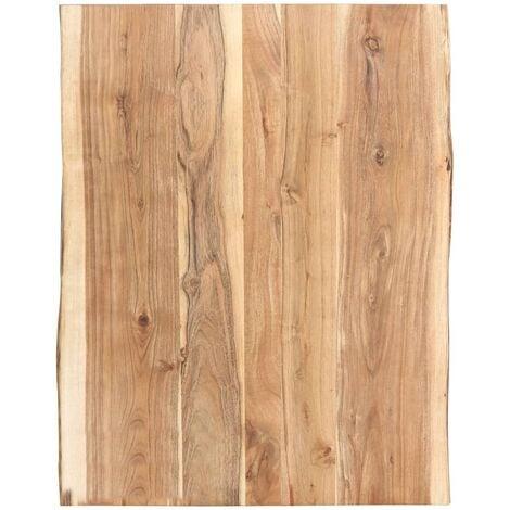 Dessus de table Bois d'acacia massif 80x60x3,8 cm