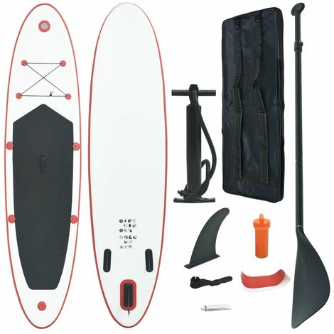 Stand Up Paddle Planche à rame gonflable Rouge et blanc