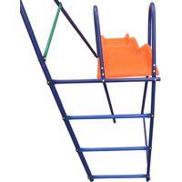 Ensemble de balançoire avec toboggan et 3 sièges Orange