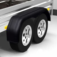 Garde-boue en tandem pour roues de remorque 2 pcs 240 x 1650 mm
