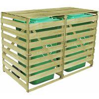 Abri pour poubelle double 240 L Bois imprégné
